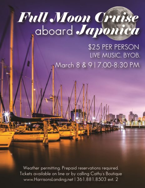 Full Moon BYOB Cruise with Live Music @ Harrison's Landing aboard Japonica